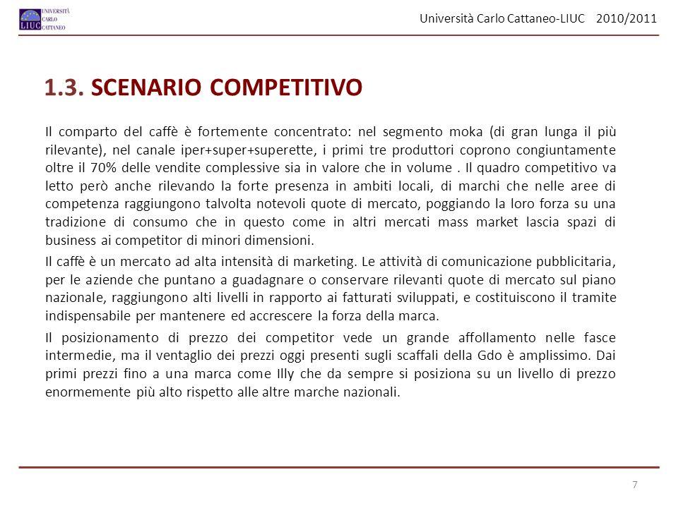 Università Carlo Cattaneo-LIUC 2010/2011 28 E stato domandato quali media influenzino di più la scelta di consumo del caffè.