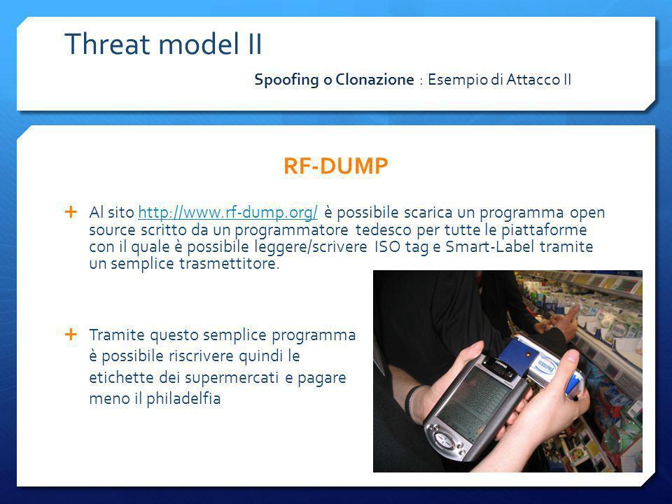 RF-DUMP Al sito http://www.rf-dump.org/ è possibile scarica un programma open source scritto da un programmatore tedesco per tutte le piattaforme con