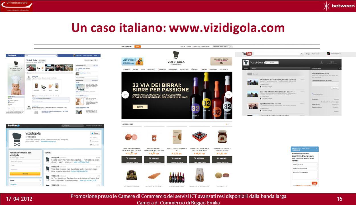 Promozione presso le Camere di Commercio dei servizi ICT avanzati resi disponibili dalla banda larga Camera di Commercio di Reggio Emilia 17-04-201216