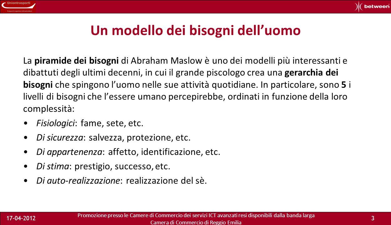 Promozione presso le Camere di Commercio dei servizi ICT avanzati resi disponibili dalla banda larga Camera di Commercio di Reggio Emilia 17-04-20123