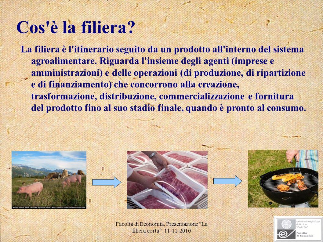 Facoltà di Economia, Presentazione La filiera corta 11-11-2010 Un prodotto segue un complesso percorso, dalla produzione alla tavola...