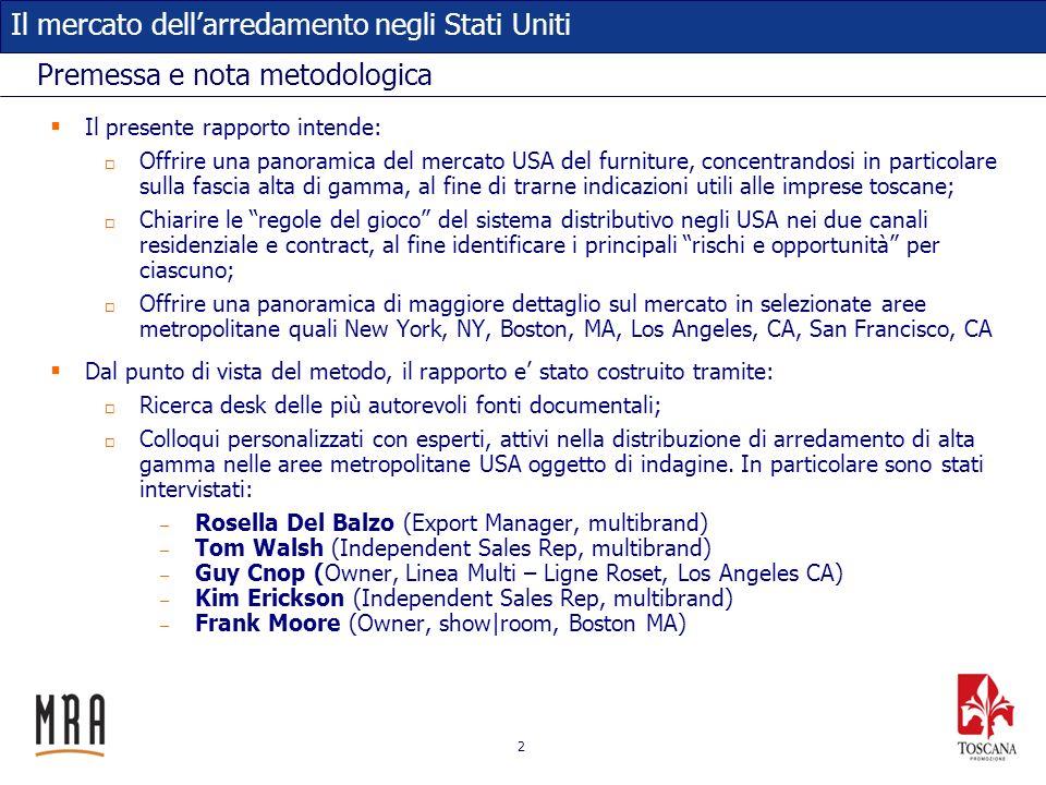 13 Il mercato dellarredamento negli Stati Uniti Le importazioni dallItalia: bagno (2) Fonte: US International Trade Administration, 2013.