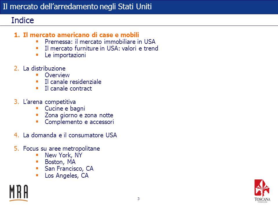 44 Il mercato dellarredamento negli Stati Uniti Key player nella cucina: Ernestomeda Linea di design del gruppo Scavolini.