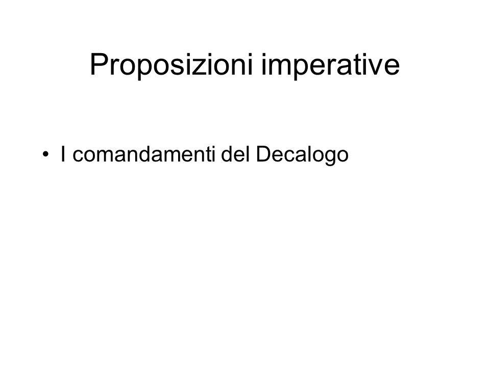 I comandamenti del Decalogo