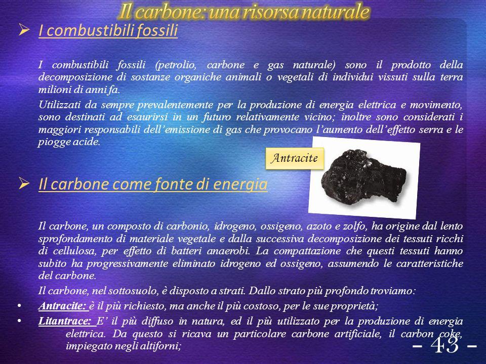 Lignite: non è un buon combustibile, quindi poco diffuso e poco conveniente.