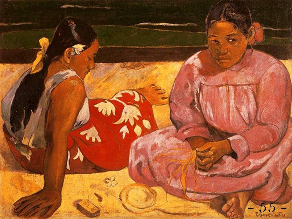 Analisi dellopera: Le donne di Tahiti Data: 1891 Tecnica: Olio su tela Dimensioni: 69 x 91,5 cm Collocazione: Parigi, Musée dOrsay Il soggetto Recatosi a Tahiti nel 1891, Gauguin si lega a Tehaamana, la donna raffigurata nel quadro in diverse pose.