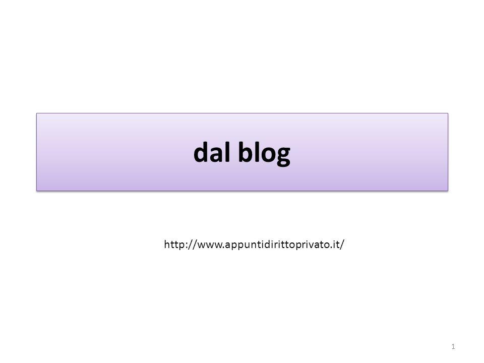 dal blog 1 http://www.appuntidirittoprivato.it/