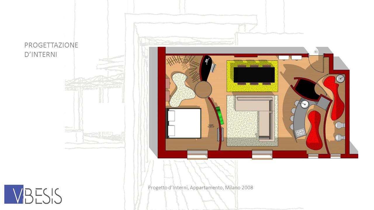 PROGETTAZIONE DINTERNI Progetto dInterni, Appartamento, Milano 2008