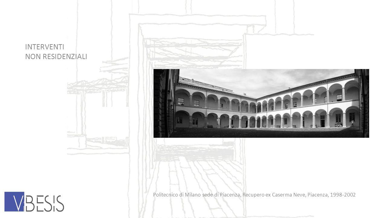 INTERVENTI NON RESIDENZIALI Politecnico di Milano sede di Piacenza, Recupero ex Caserma Neve, Piacenza, 1998-2002