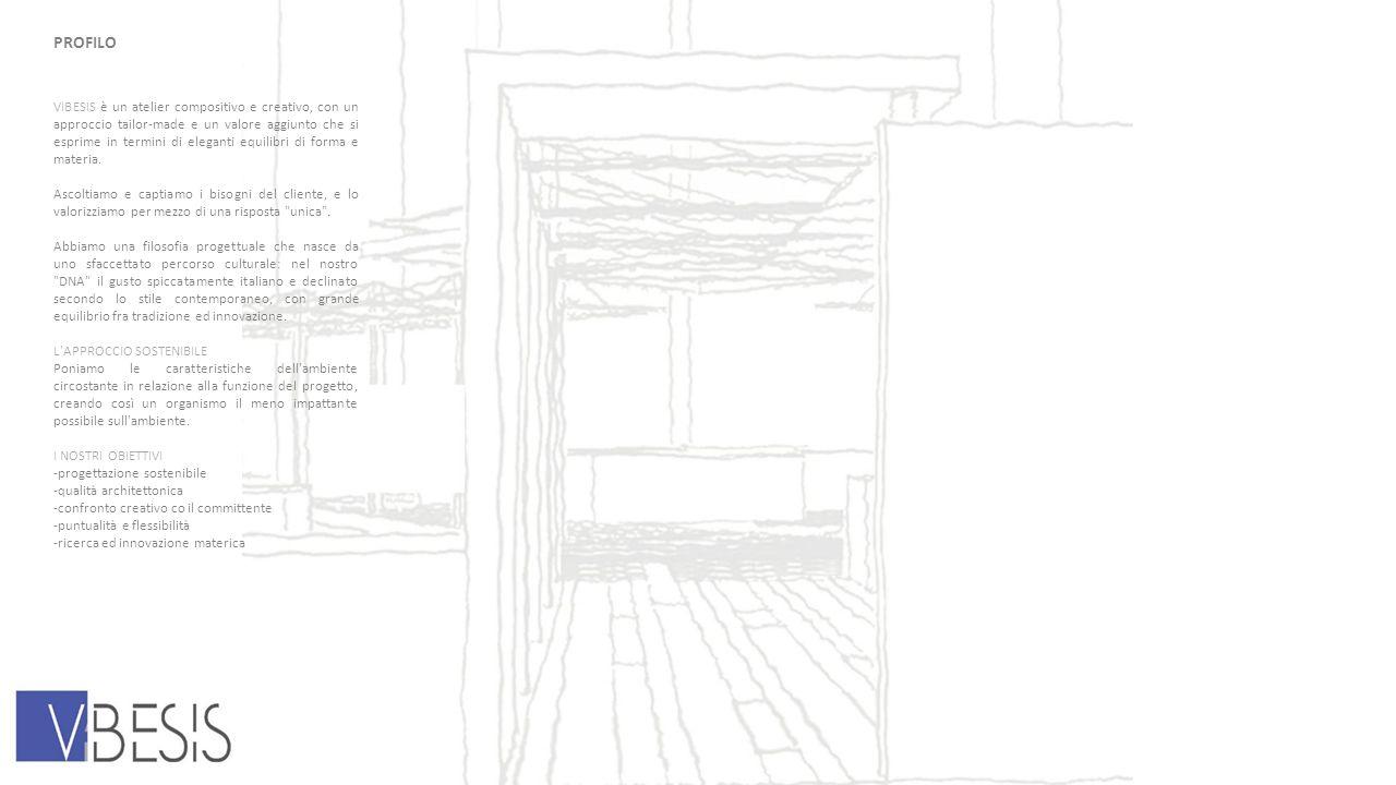 PROFILO VIBESIS è un atelier compositivo e creativo, con un approccio tailor-made e un valore aggiunto che si esprime in termini di eleganti equilibri