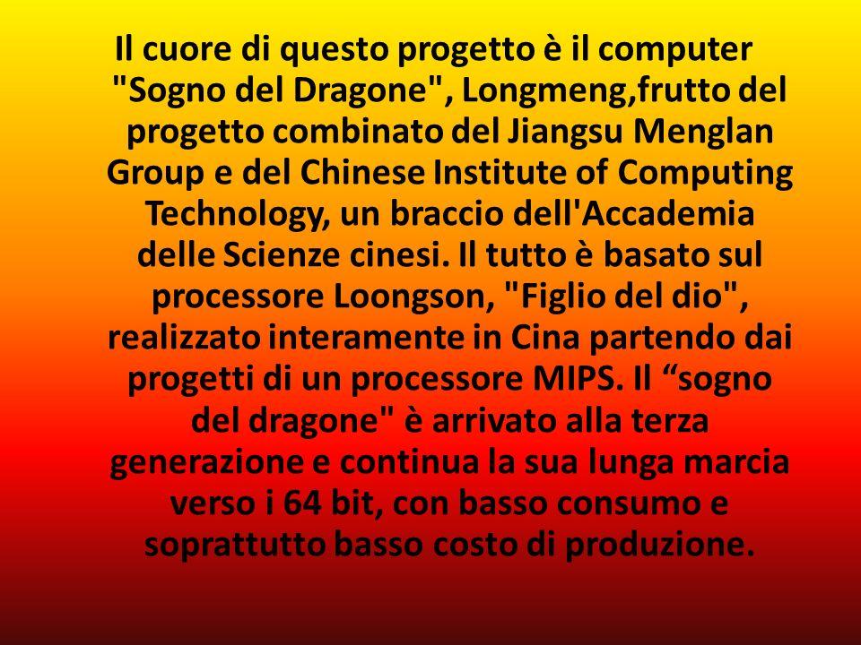 Il cuore di questo progetto è il computer Sogno del Dragone , Longmeng,frutto del progetto combinato del Jiangsu Menglan Group e del Chinese Institute of Computing Technology, un braccio dell Accademia delle Scienze cinesi.