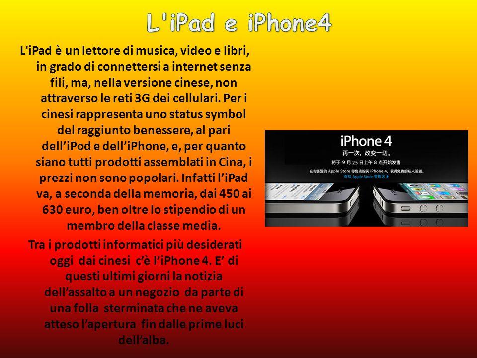 L iPad è un lettore di musica, video e libri, in grado di connettersi a internet senza fili, ma, nella versione cinese, non attraverso le reti 3G dei cellulari.