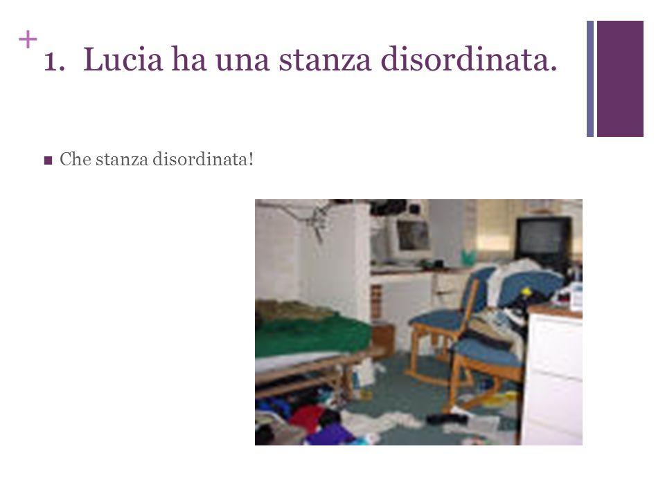 + 1. Lucia ha una stanza disordinata. Che stanza disordinata!