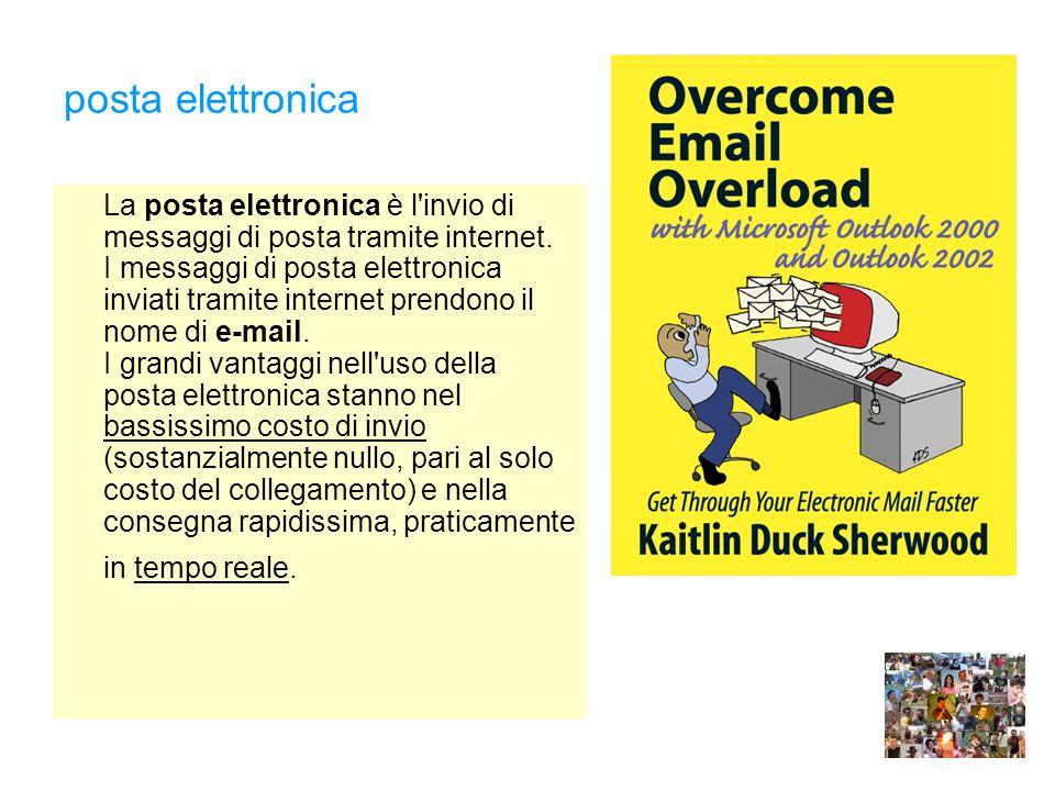 posta elettronica La posta elettronica è l invio di messaggi di posta tramite internet.