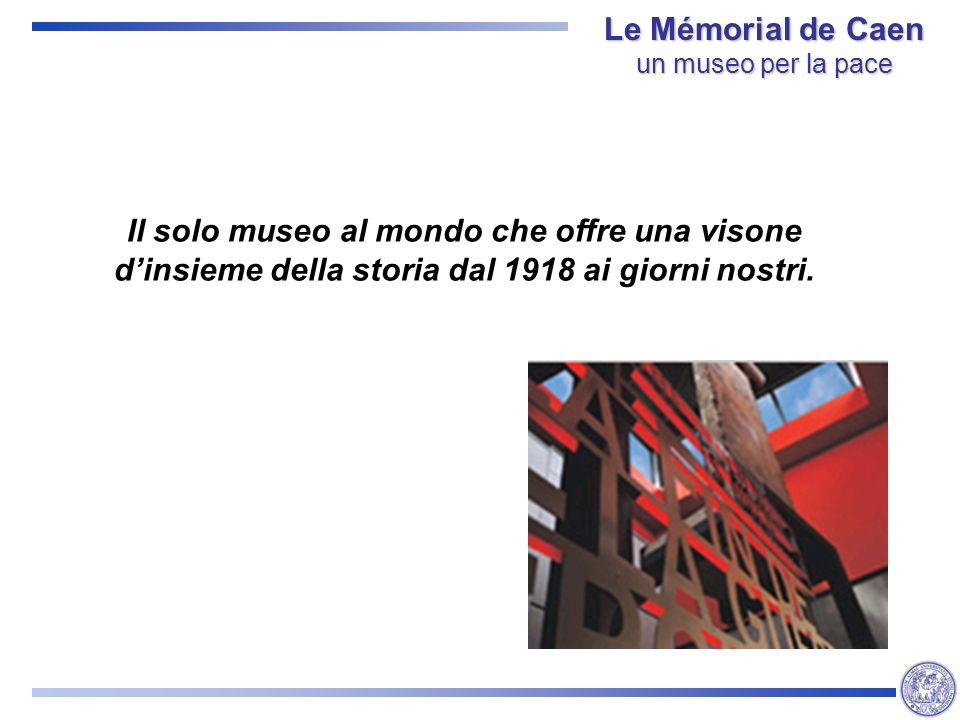 Il solo museo al mondo che offre una visone dinsieme della storia dal 1918 ai giorni nostri.