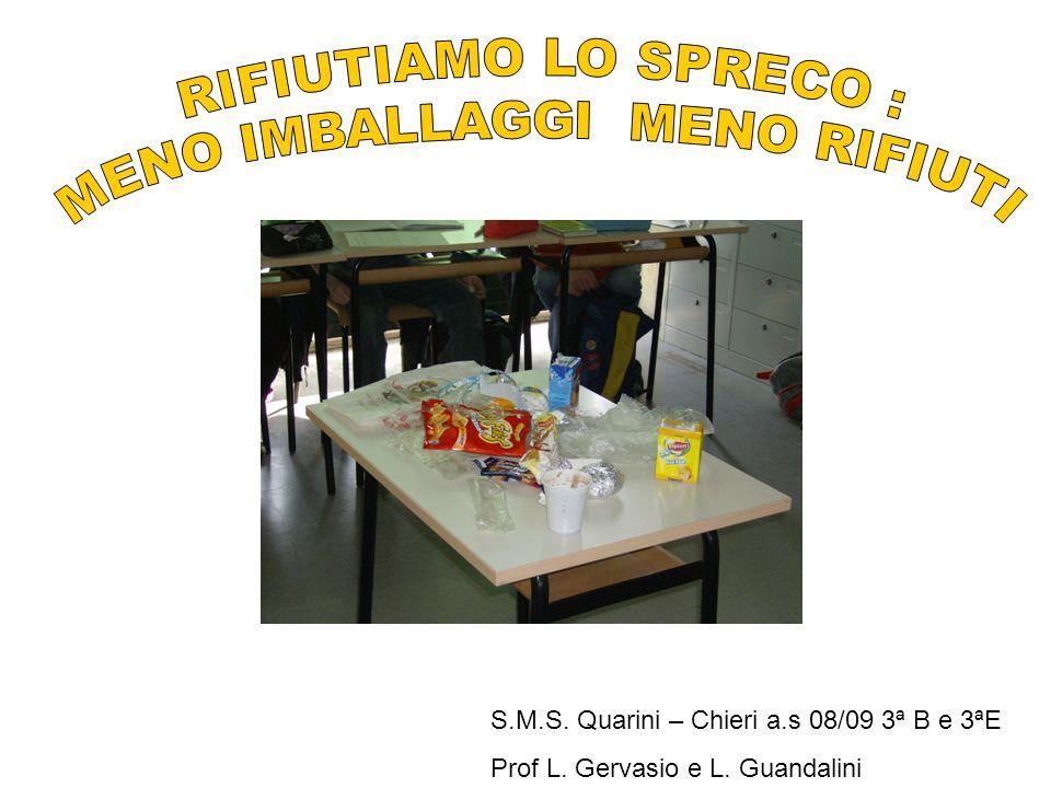 S.M.S. Quarini – Chieri a.s 08/09 3ª B e 3ªE Prof L. Gervasio e L. Guandalini