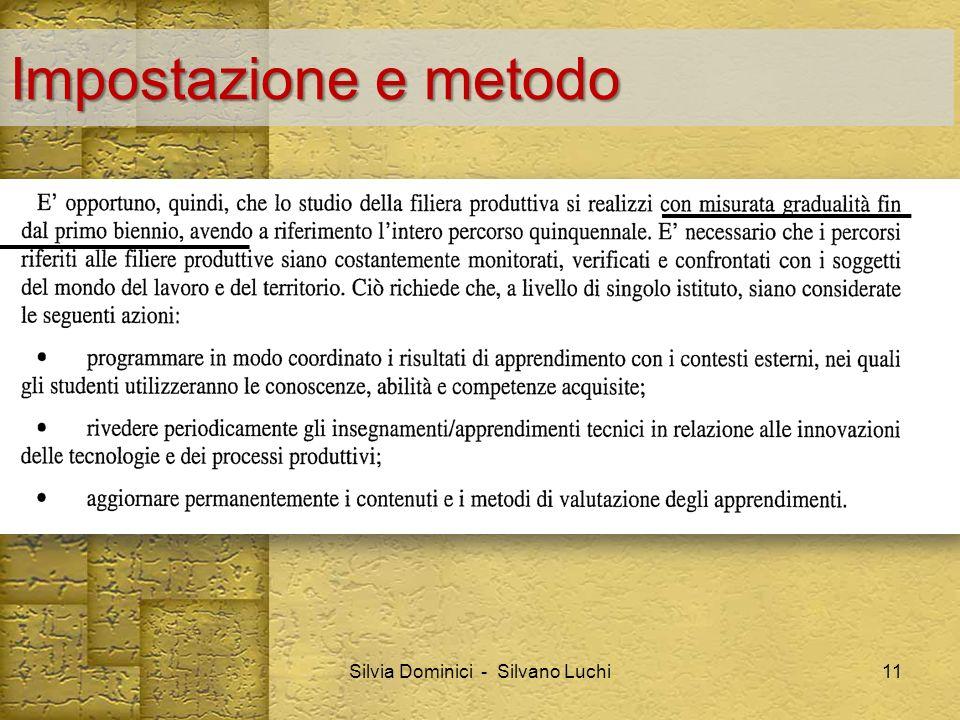 Impostazione e metodo Silvia Dominici - Silvano Luchi11