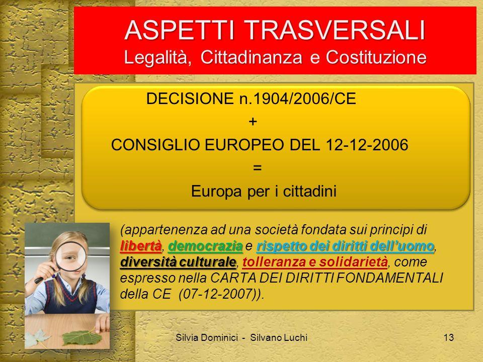 DECISIONE n.1904/2006/CE + CONSIGLIO EUROPEO DEL 12-12-2006 = Europa per i cittadini libertàdemocraziarispetto dei diritti delluomo diversità cultural