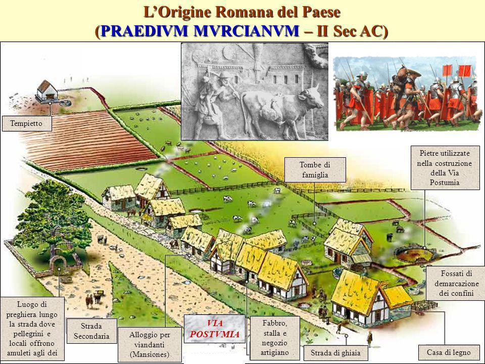 Accademia Murciana Copyright August 2004 LOrigine Romana del Paese (PRAEDIVM MVRCIANVM – II Sec AC) Tempietto Luogo di preghiera lungo la strada dove