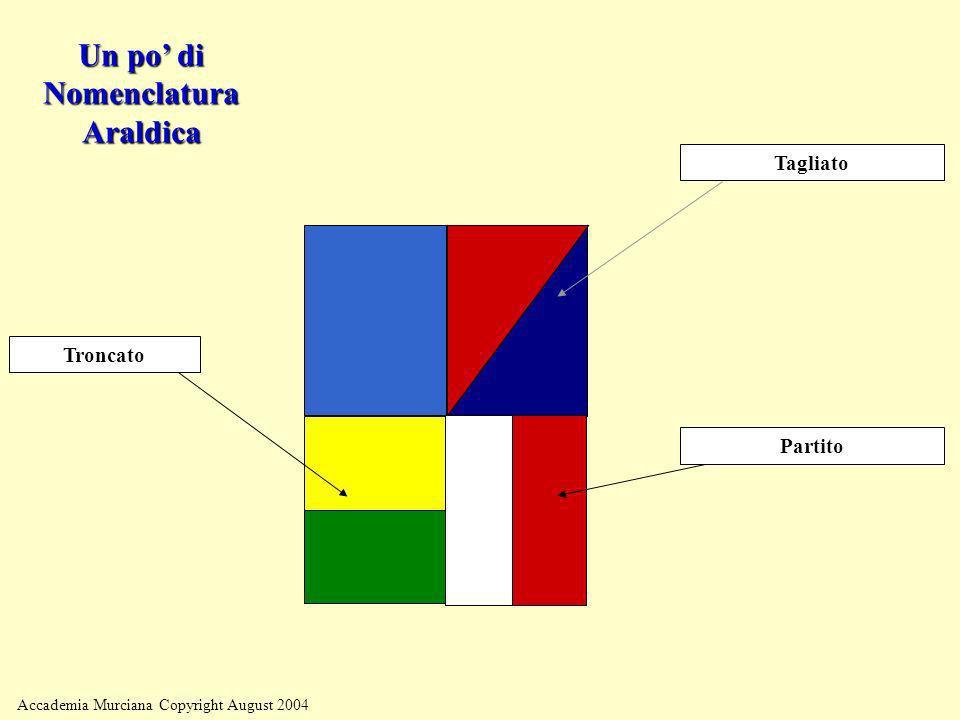 Accademia Murciana Copyright August 2004 Partito Tagliato Troncato Un po di Nomenclatura Araldica
