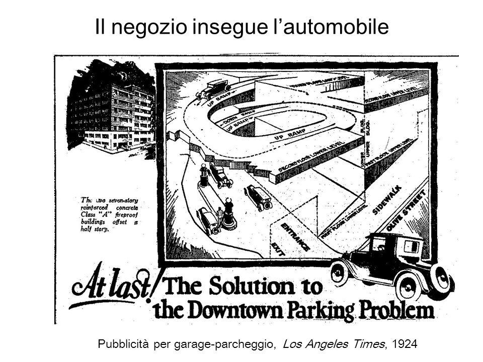 Il negozio insegue lautomobile Pubblicità per garage-parcheggio, Los Angeles Times, 1924