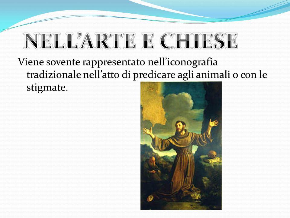Viene sovente rappresentato nelliconografia tradizionale nellatto di predicare agli animali o con le stigmate.