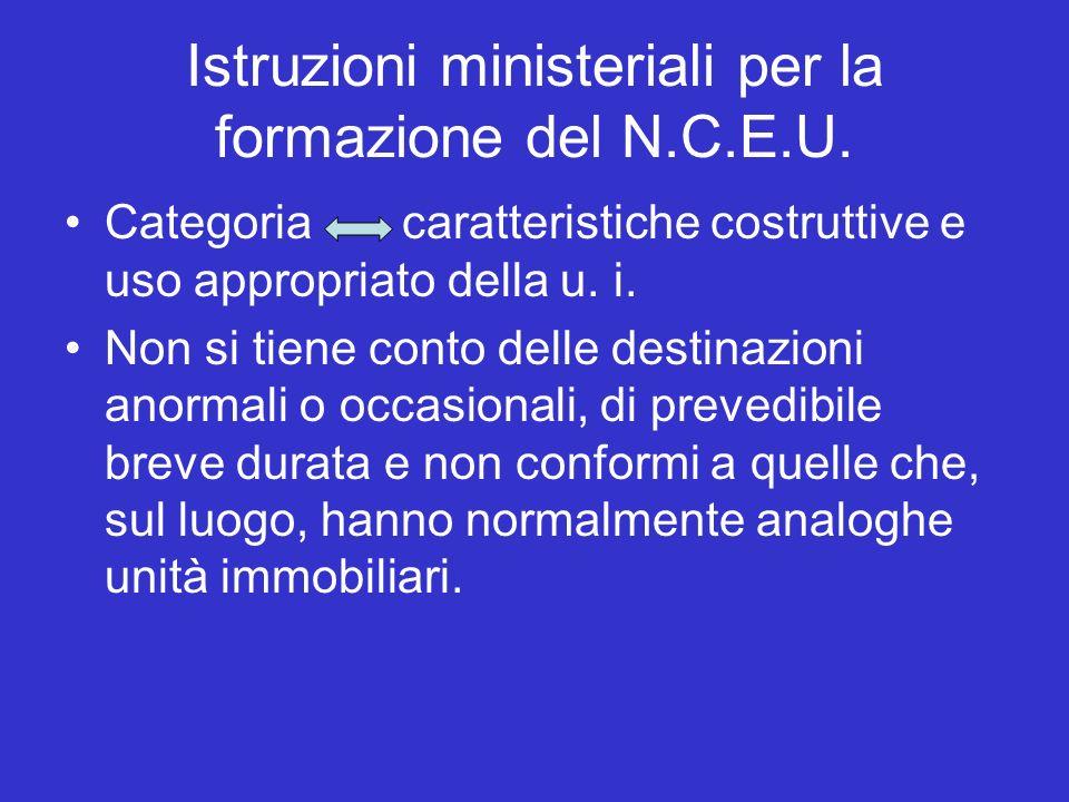 Istruzioni ministeriali per la formazione del N.C.E.U.