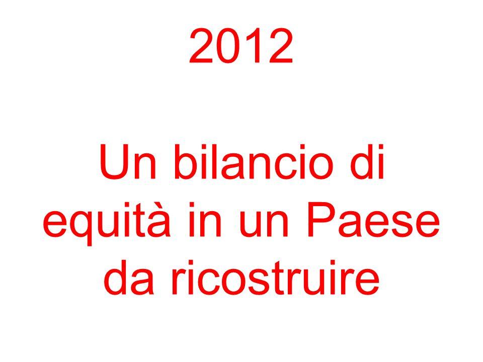 2012 Un bilancio di equità in un Paese da ricostruire