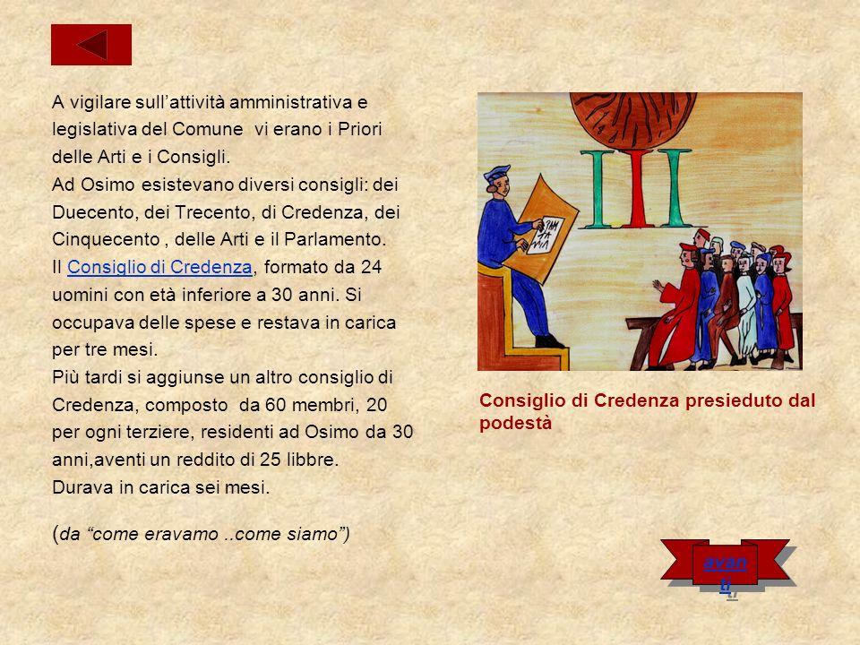Maiores et Minores La popolazione del comune di Osimo nel XII secolo era composta da cittadini iscritti alle arti maggiori (chiamati Maiores ): notai, giudici, farmacisti, tesorieri, commercianti...