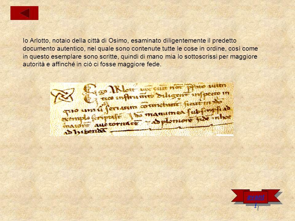 Carta del castello di Quercia Nel nome di Dio.