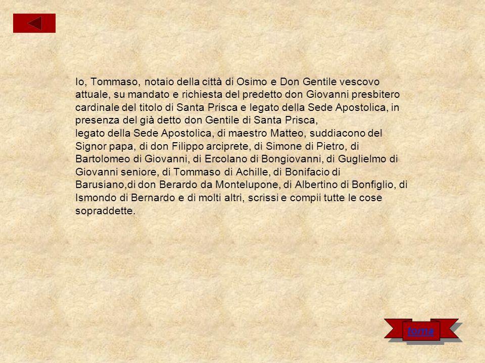 Cartula del popolo minore di Castel Ubaldo e Monte Cerno Nel nome di Dio.