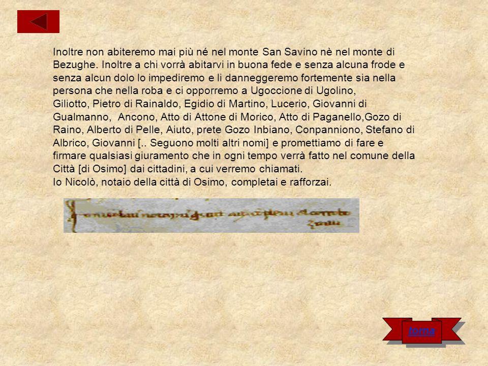 Cartula del castello di Tornazzano Nel nome di Dio.