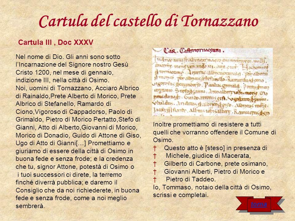 Cartula di Monte Zaro Nel nome del Signore.
