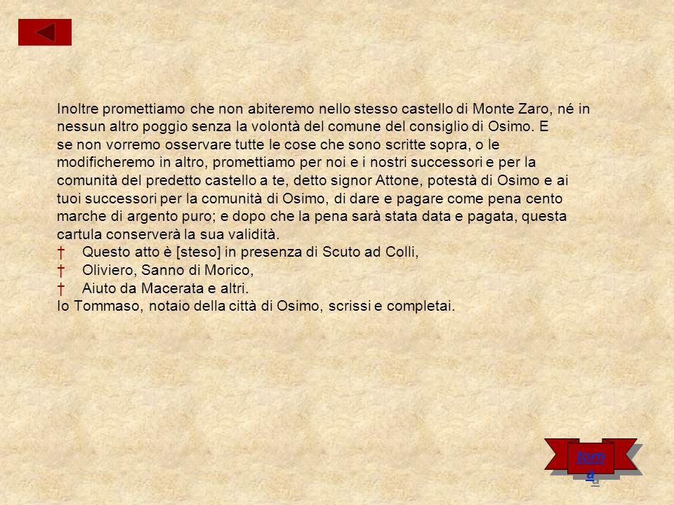 Cartula di Attone Vecclo da Camerano Nel nome di Dio.