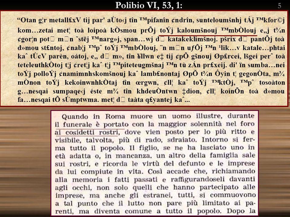 Polibio VI, 6