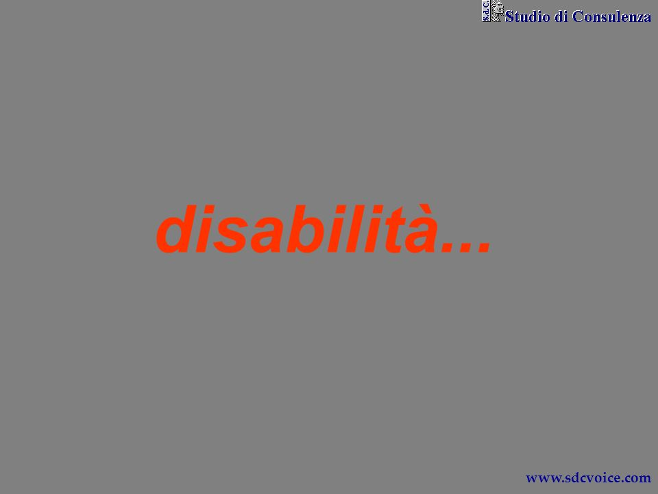 disabilità... www.sdcvoice.com