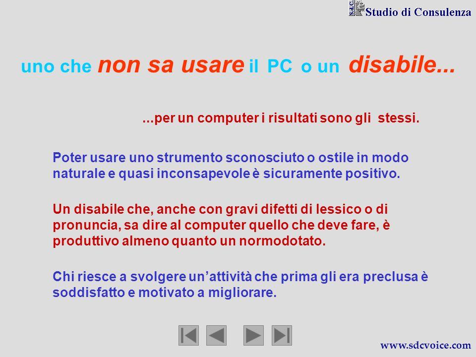 uno che non sa usare il PC o un disabile......per un computer i risultati sono gli stessi.