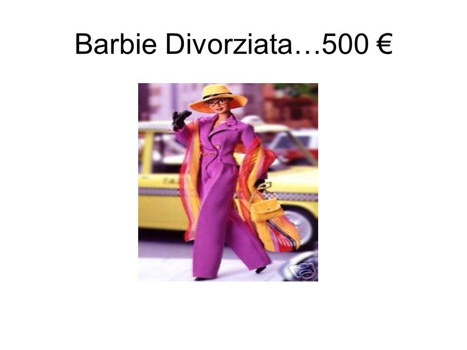 stupito luomo le chiede…… -Mi scusi, perchè la Barbie Divorziata costa così tanto di più delle altre ?