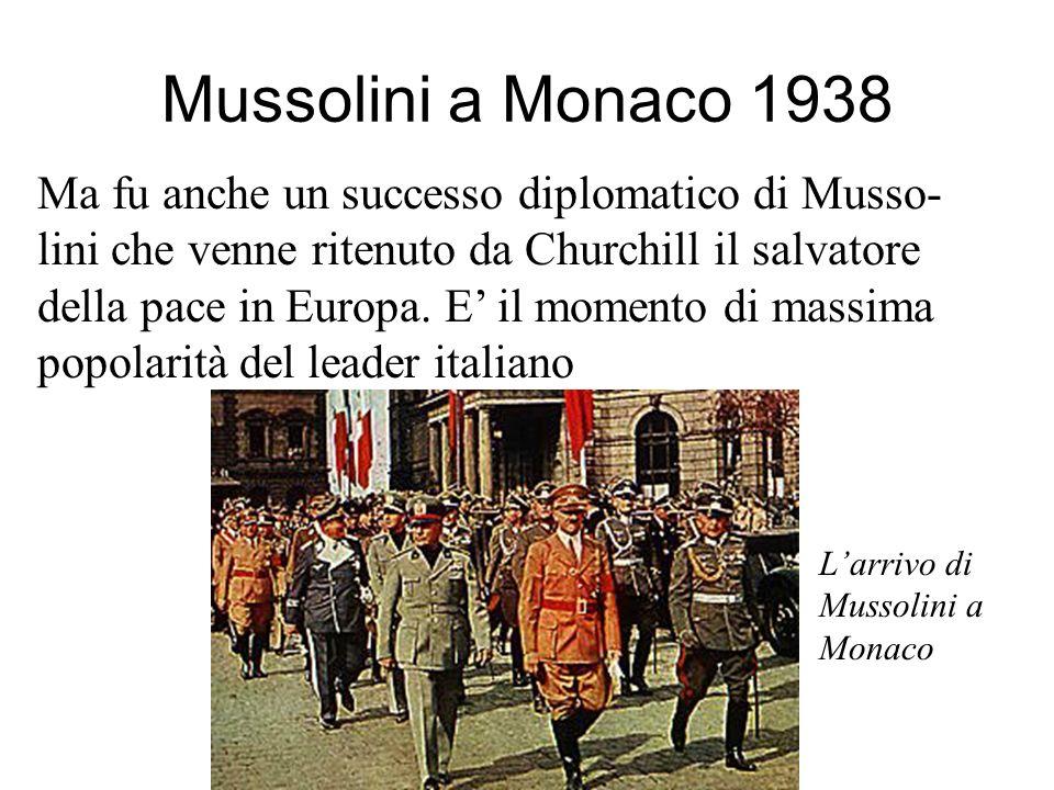 Partecipano Hitler, Mussolini, Chamberlain, Daladier Successo diplomatico di Hitler e nessuno ostacolo al suo piano Nel marzo del 1939 Hitler si an- n