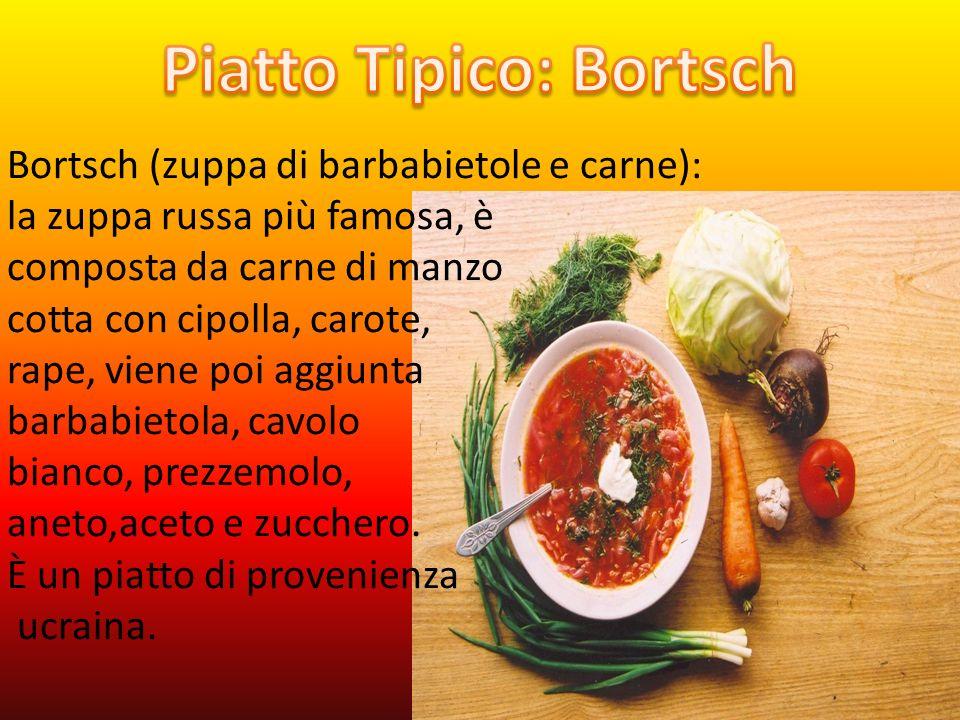 Blinis: una specie di crepes, ma più spesse, consumate con contorni dolci o salati.