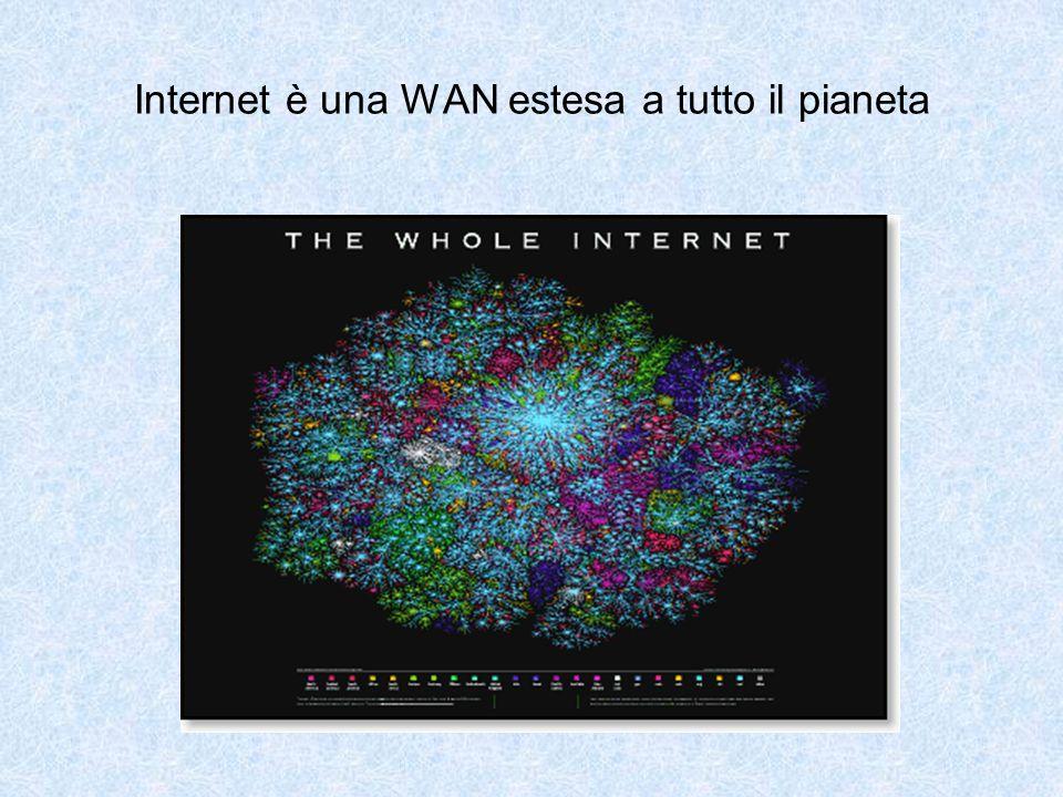 Internet è una WAN estesa a tutto il pianeta