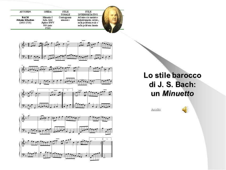 Ascolto Lo stile barocco di J. S. Bach: un Minuetto