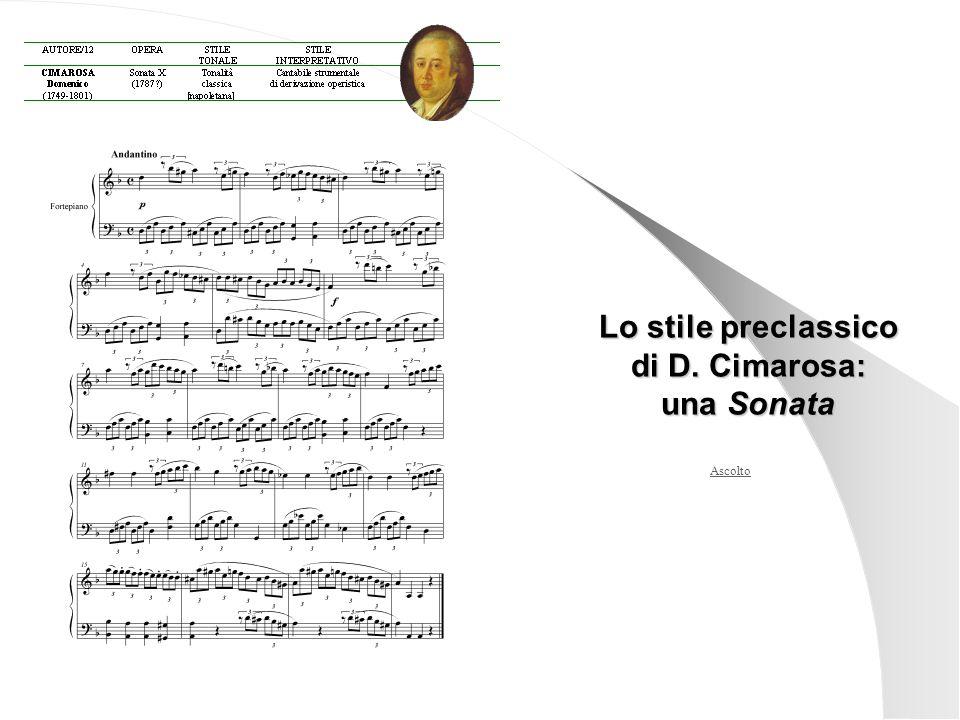 Ascolto Lo stile preclassico di D. Cimarosa: una Sonata