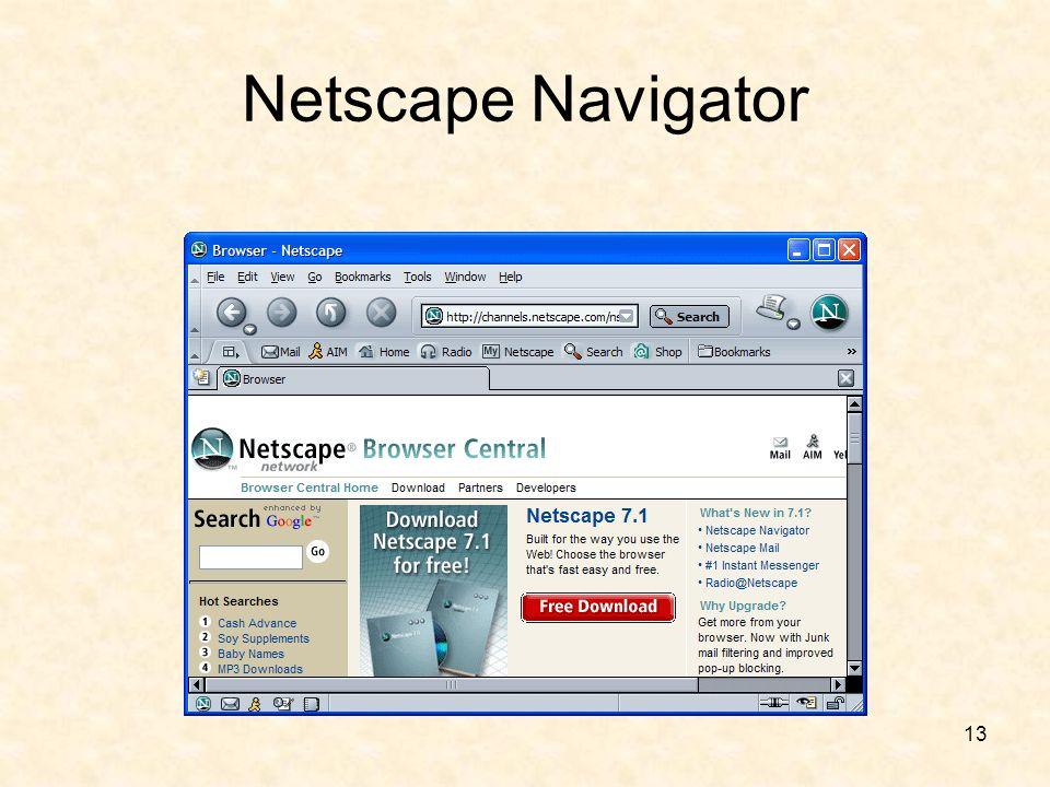 13 Netscape Navigator