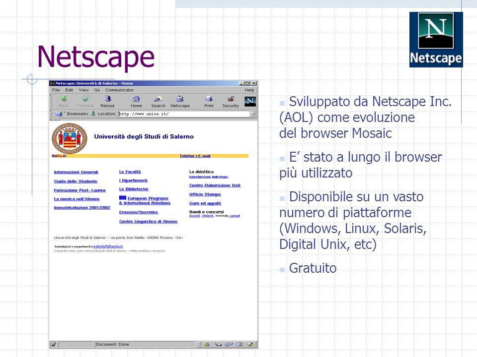 Netscape Sviluppato da Netscape Inc.