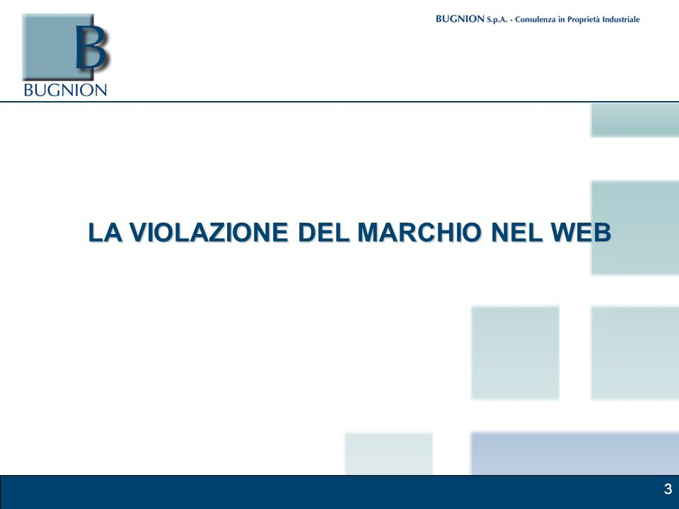3 LA VIOLAZIONE DEL MARCHIO NEL WEB
