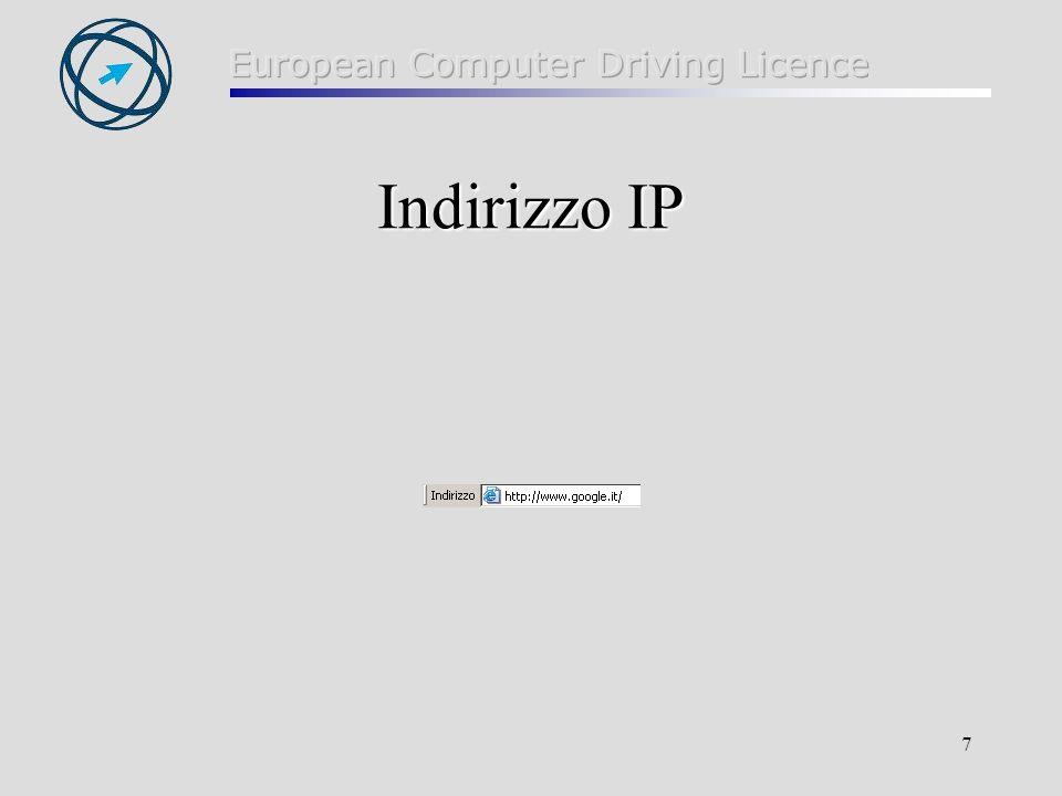 7 Indirizzo IP