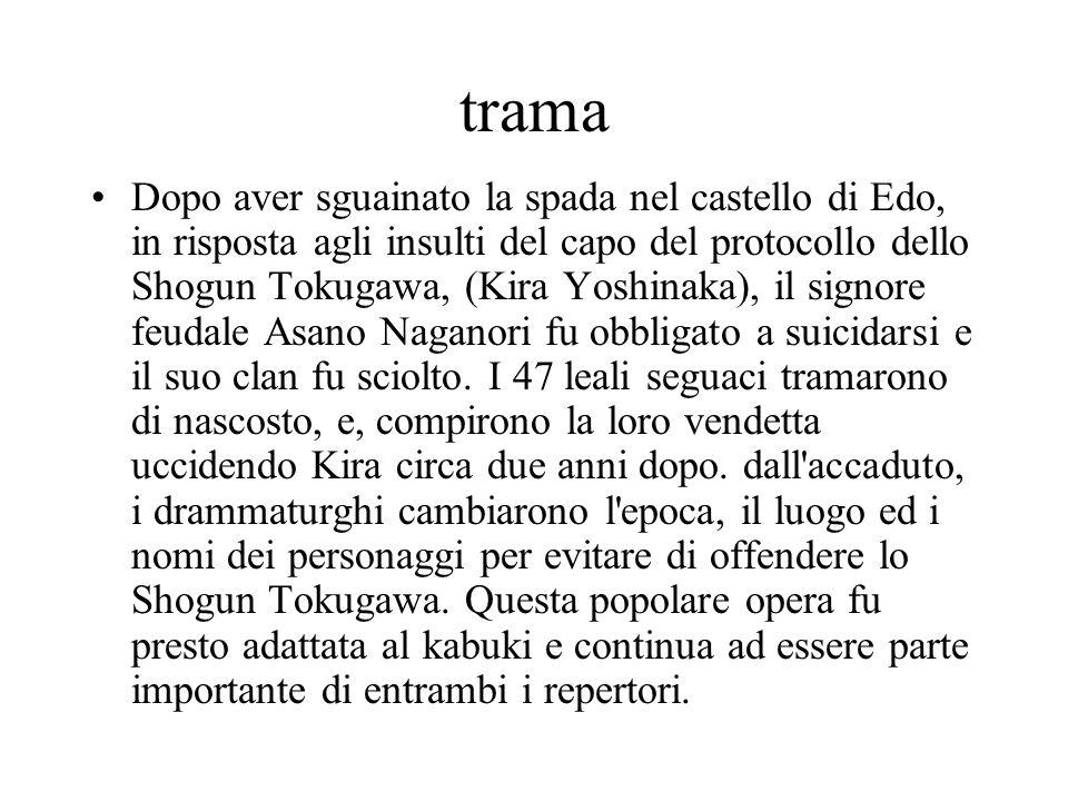 trama Dopo aver sguainato la spada nel castello di Edo, in risposta agli insulti del capo del protocollo dello Shogun Tokugawa, (Kira Yoshinaka), il s