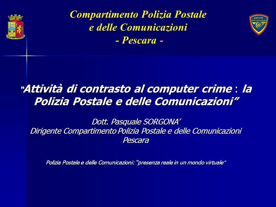 Attività di contrasto al computer crime : la Polizia Postale e delle Comunicazioni Attività di contrasto al computer crime : la Polizia Postale e dell