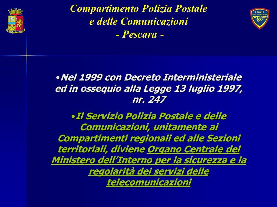 Nel 1999 con Decreto Interministeriale ed in ossequio alla Legge 13 luglio 1997, nr. 247Nel 1999 con Decreto Interministeriale ed in ossequio alla Leg